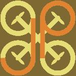 Logo JP Droni linea arancio