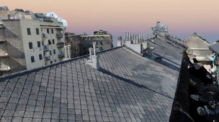 Ricostruzione 3D di un tetto